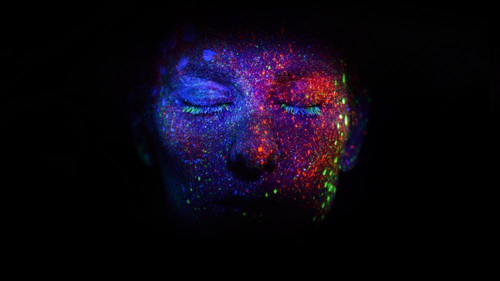 Illuminating body painting artwork wallpaper
