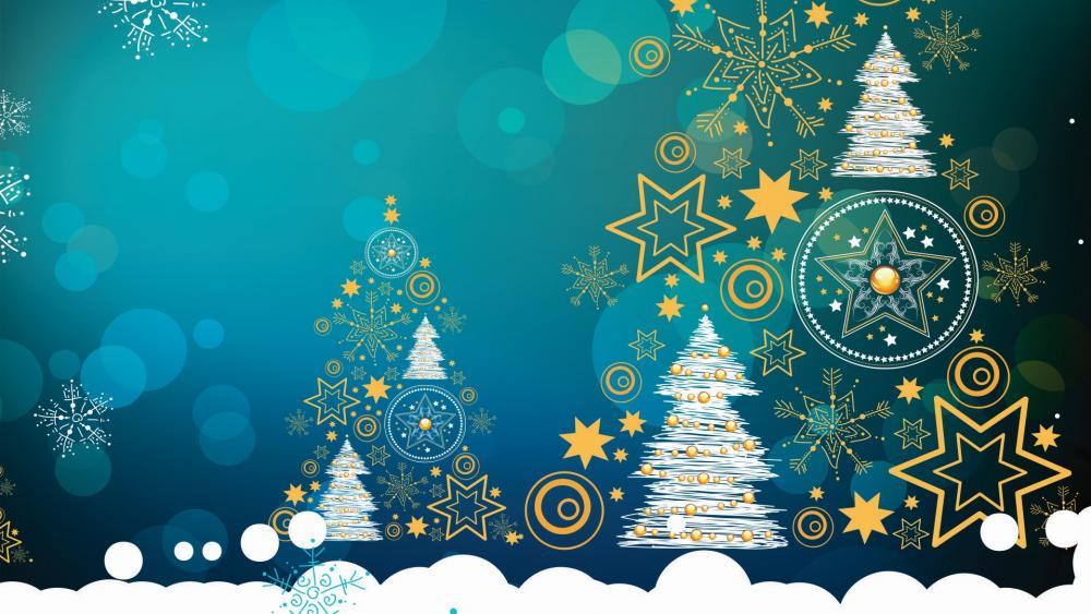 Happy Christmas full of splendors wallpaper