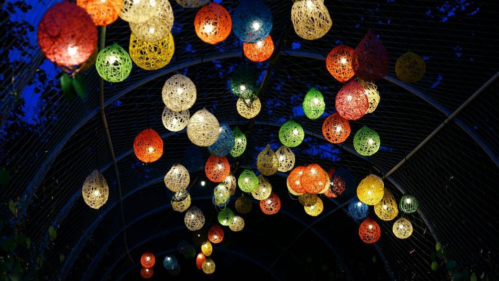 Decoration lighting balls wallpaper