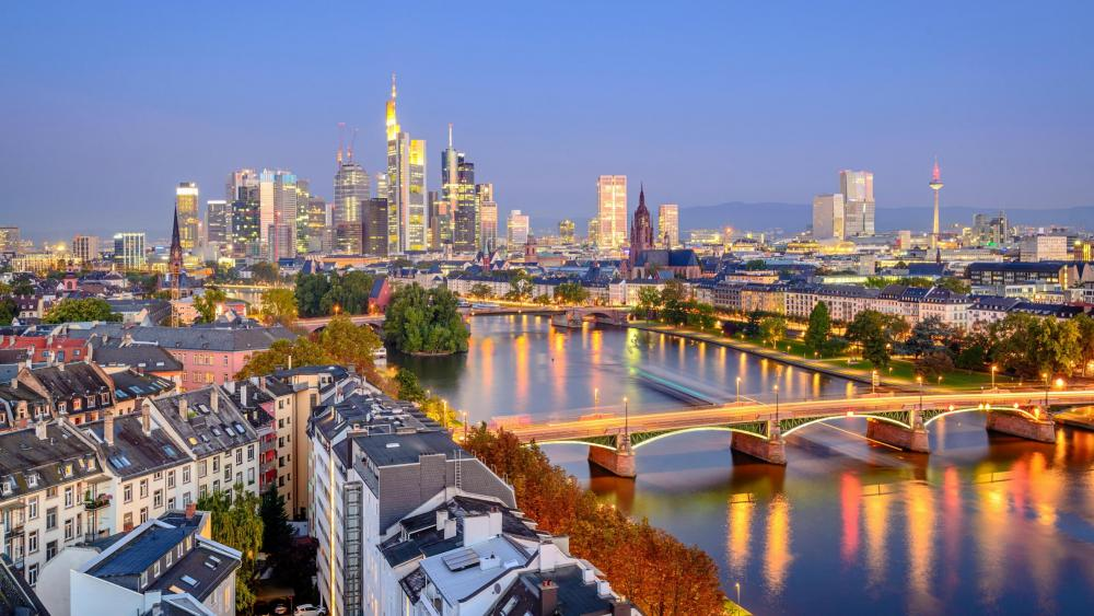 Frankfurt skyline wallpaper