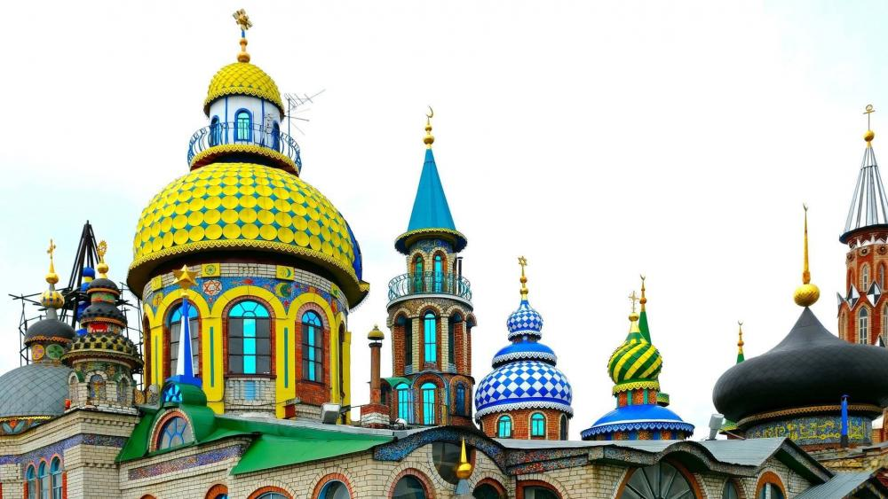 Colourful mosque wallpaper