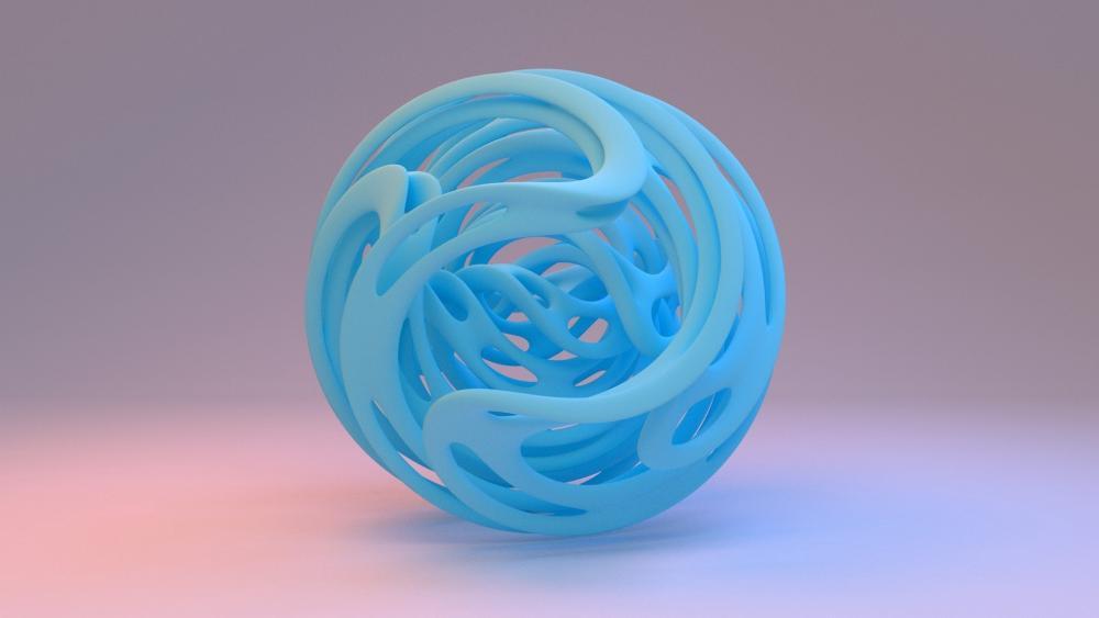 Blue ball wallpaper