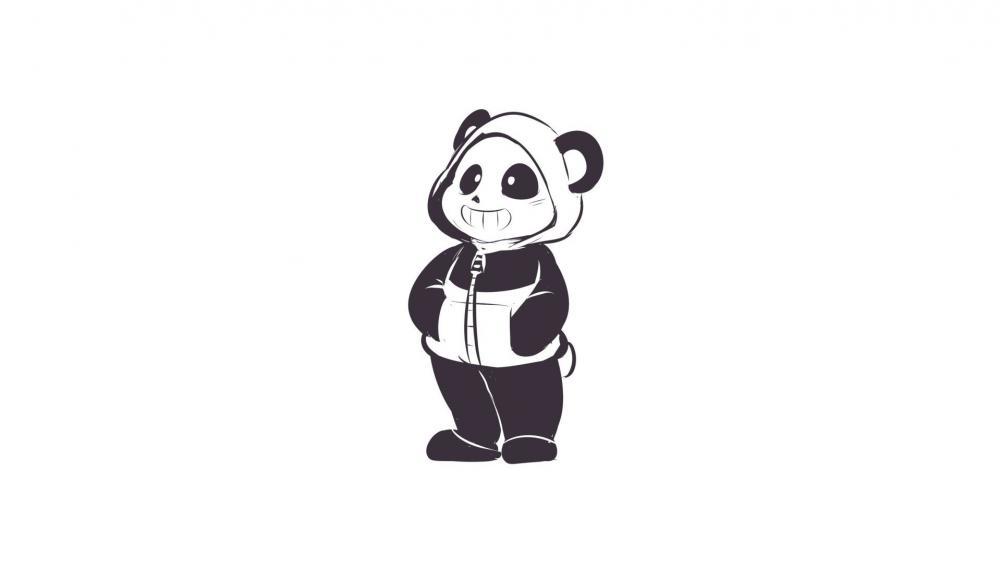 Panda dwawing wallpaper