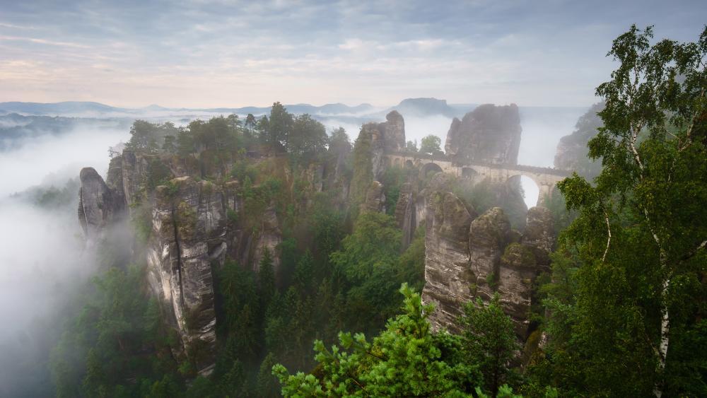 Saxon Switzerland National Park wallpaper