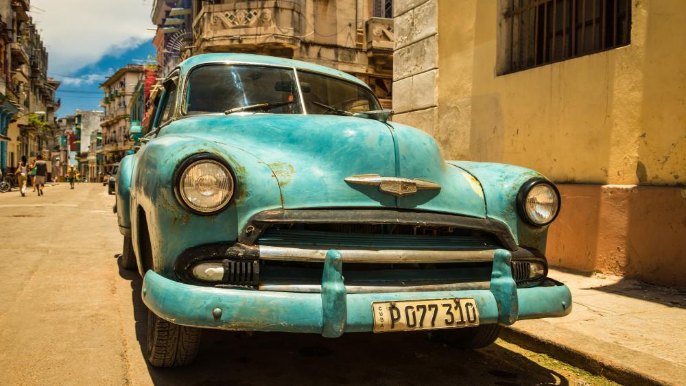 Cuba vintage car wallpaper