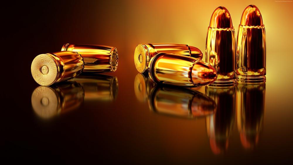 Gold bullets wallpaper