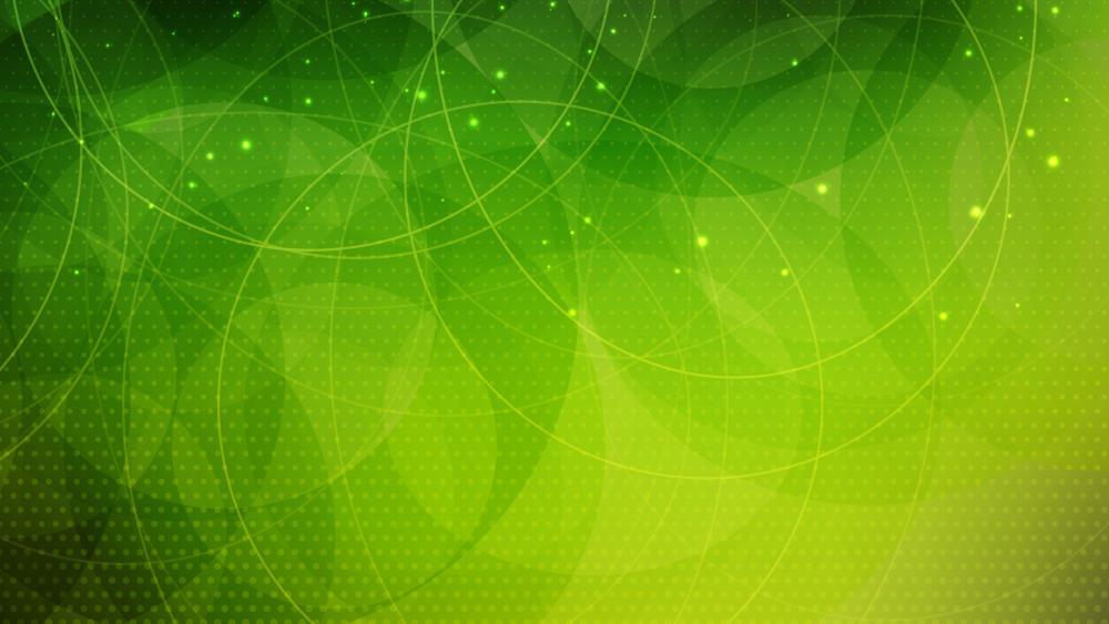 Green circles and dots wallpaper