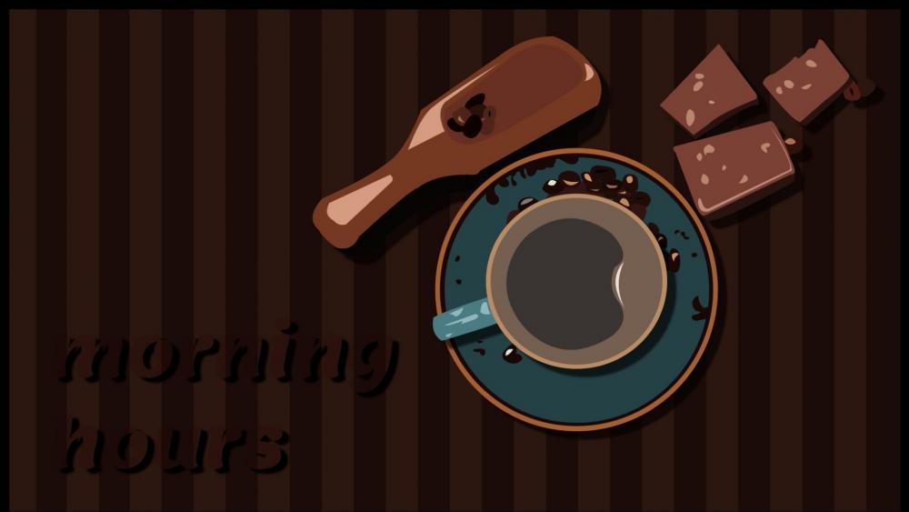 Coffee illustration wallpaper