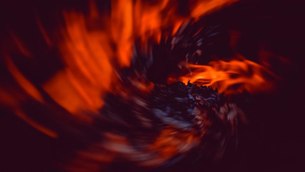 Red flame vortex wallpaper