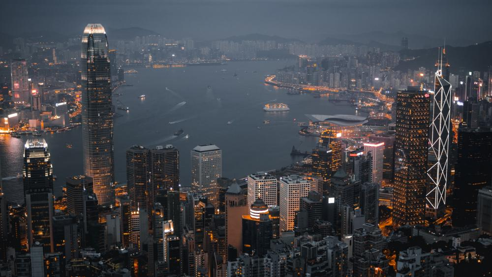 Hong Kong view from Victoria Peak wallpaper