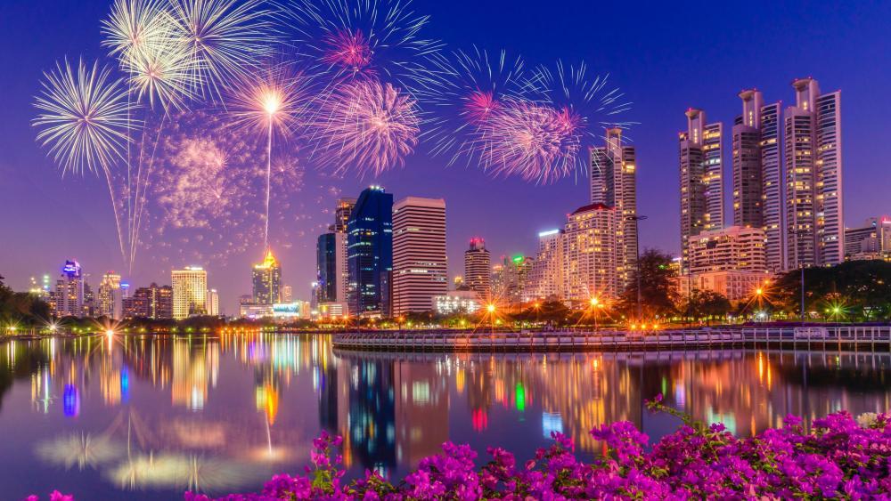 Fireworks in Bangkok wallpaper