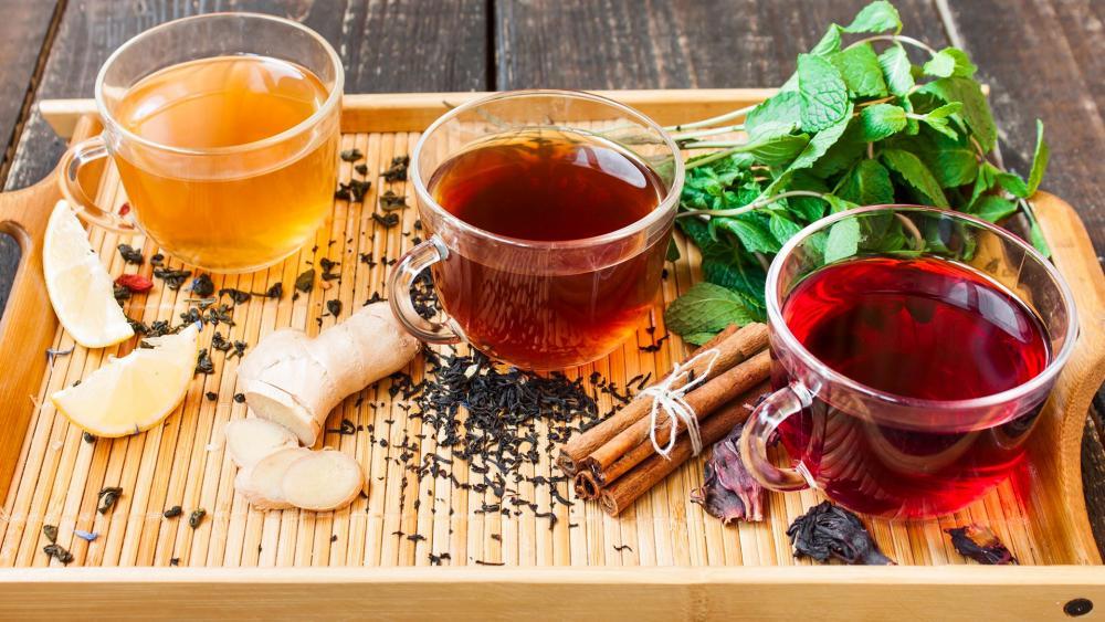 Tea varieties wallpaper