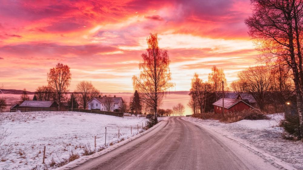 Incredible beautiful winter sky wallpaper