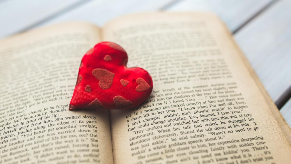 Romantic book wallpaper