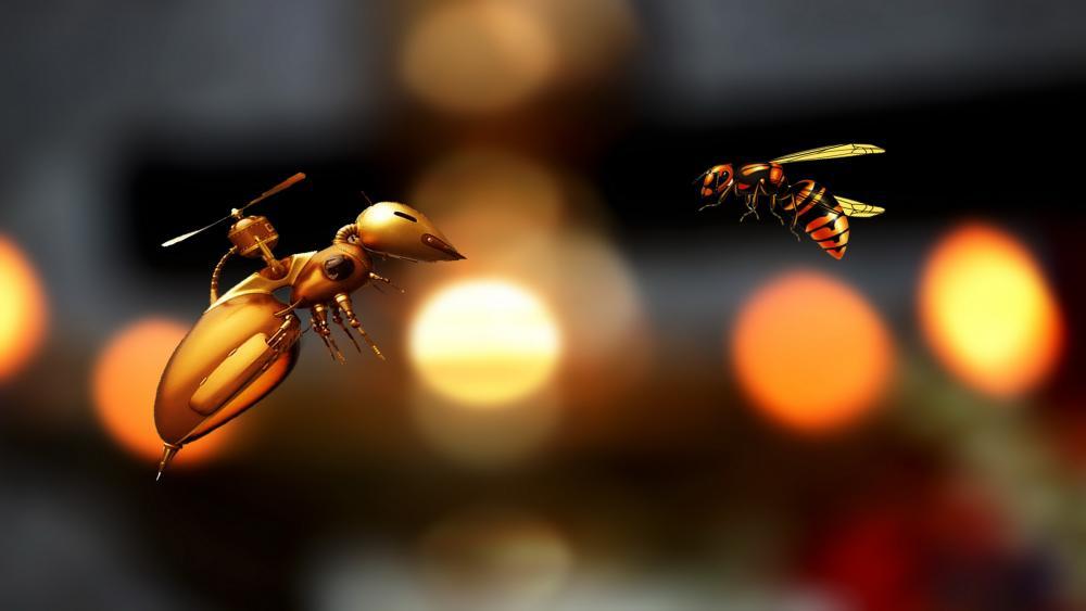 Pollinator drone wallpaper