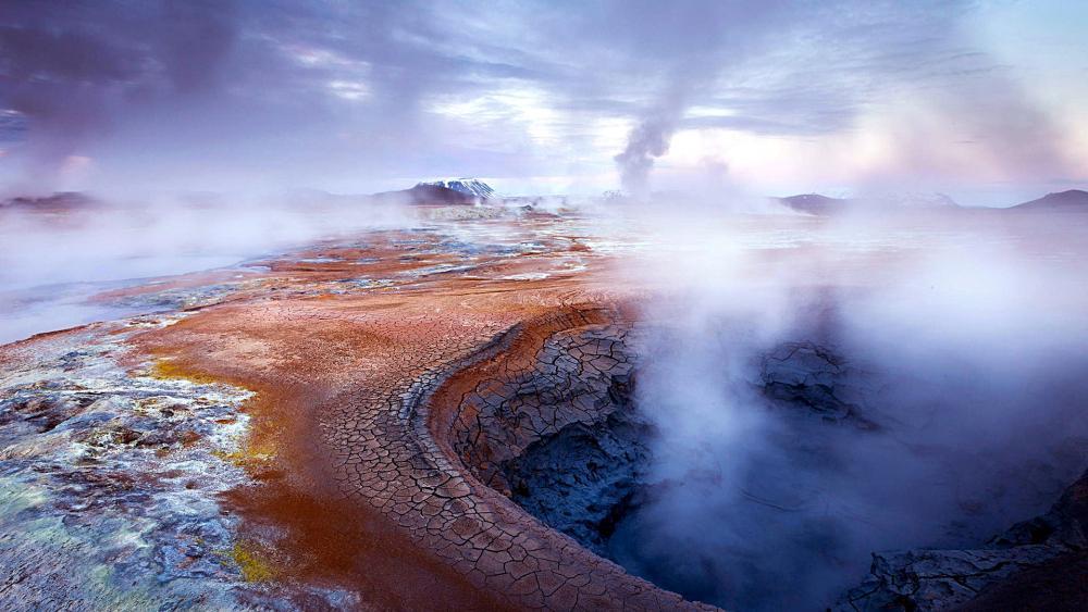 Geysir Geothermal Field wallpaper
