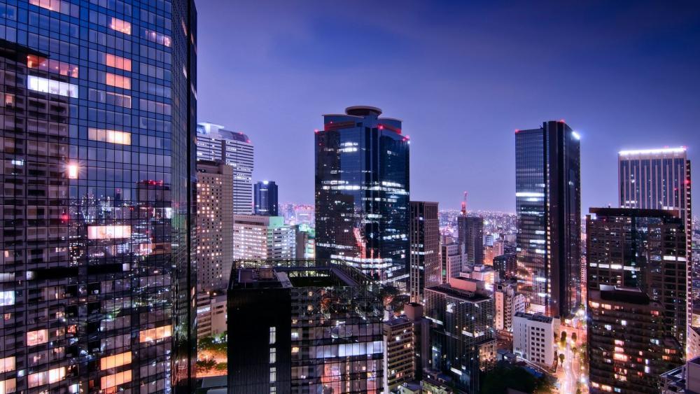 Tokyo citylights wallpaper