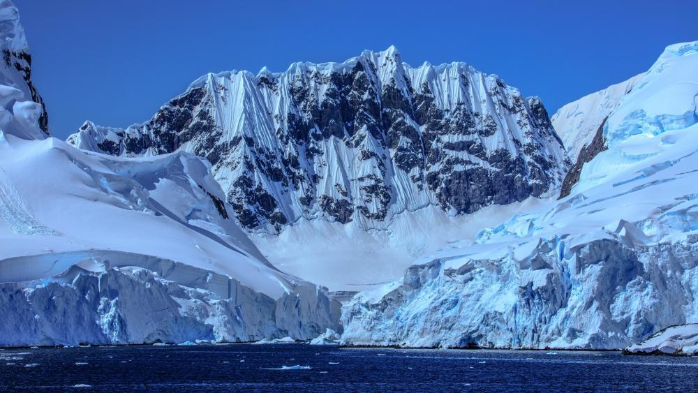 Melting polar ice cap wallpaper