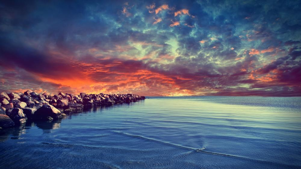 colourful sky wallpaper