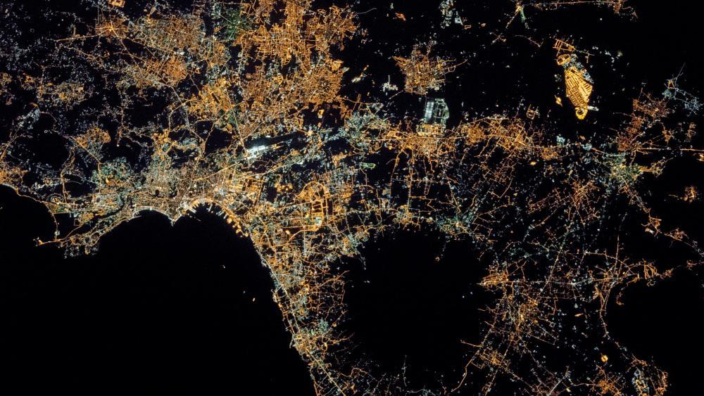 Naples at Night wallpaper
