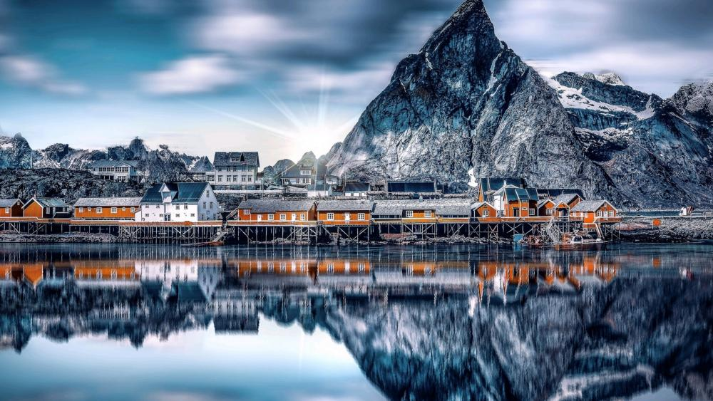 Sakrisoya Island (Lofoten, Norway) wallpaper