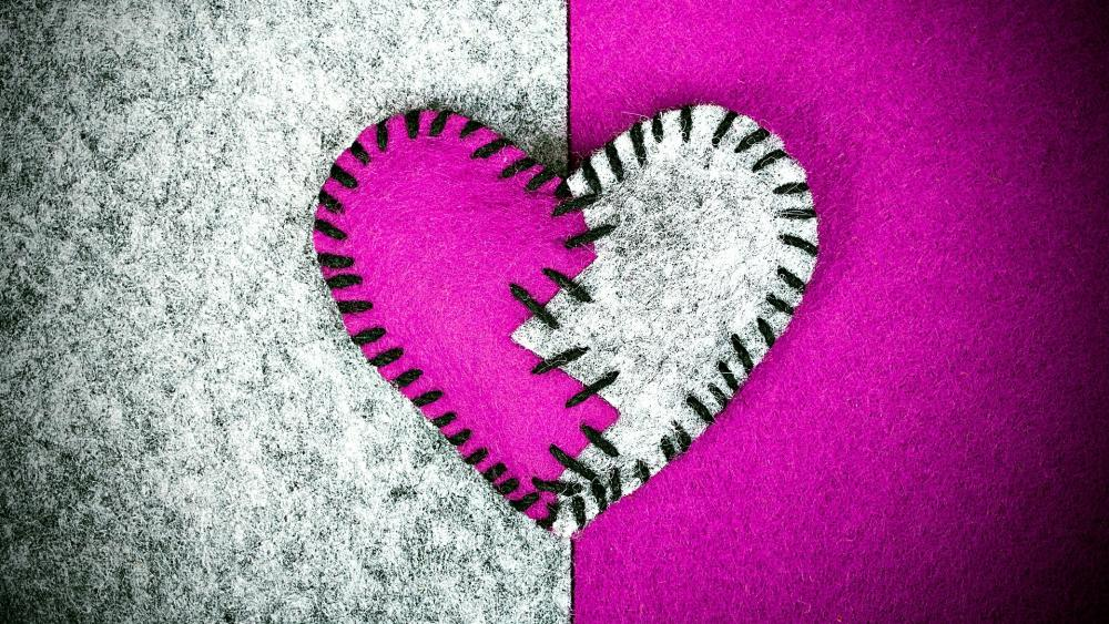 Textile heart wallpaper
