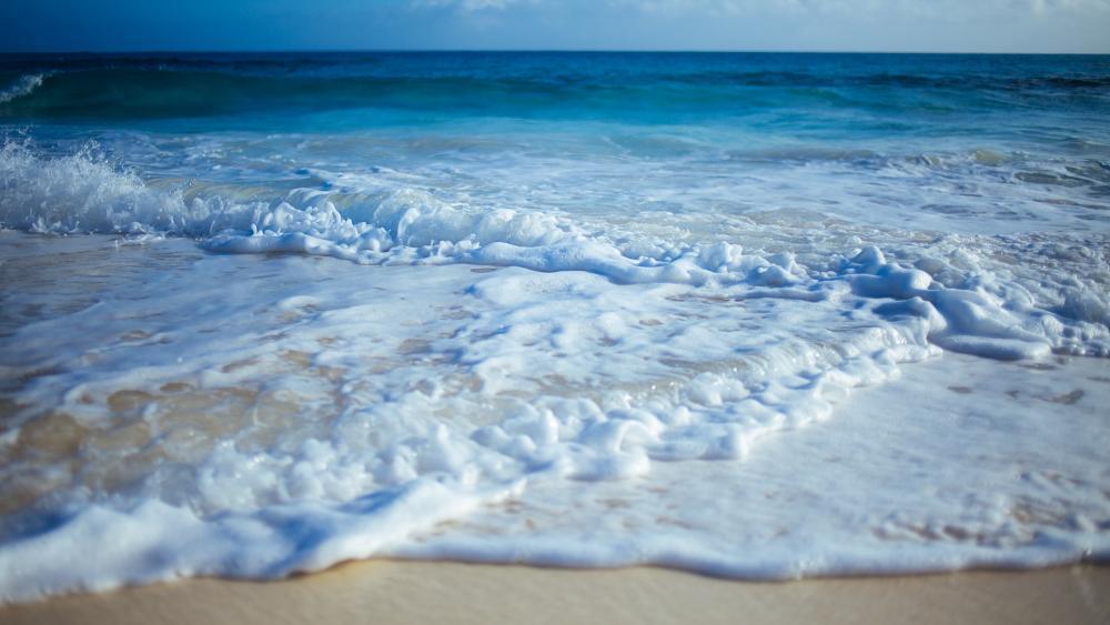 Foamy waves wallpaper