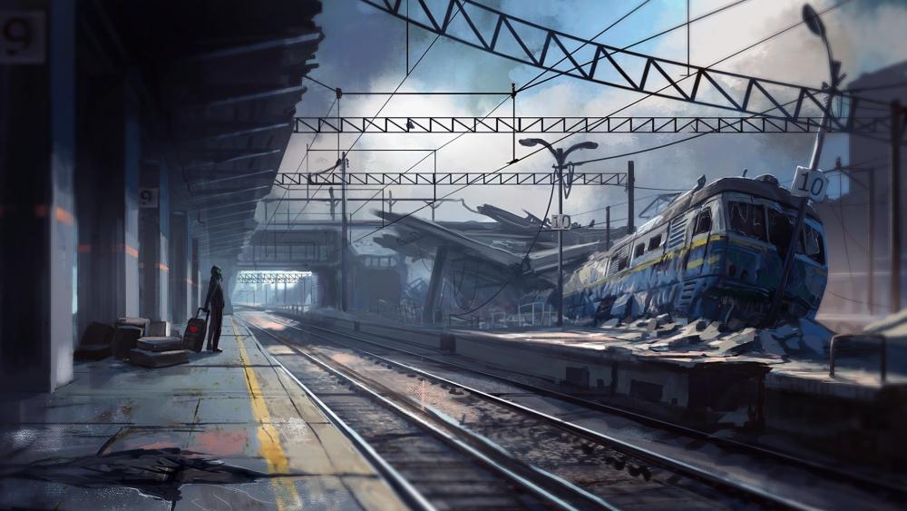 Apocalyptic landscape wallpaper