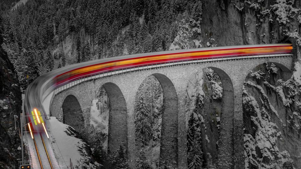 Landwasser Viaduct (Switzerland) wallpaper