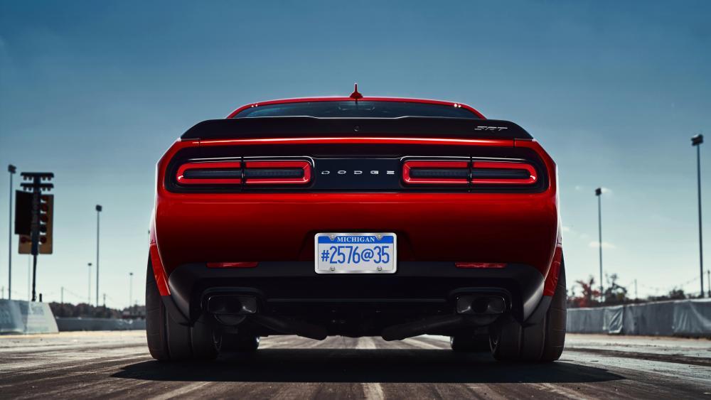 Dodge Challenger rear wallpaper