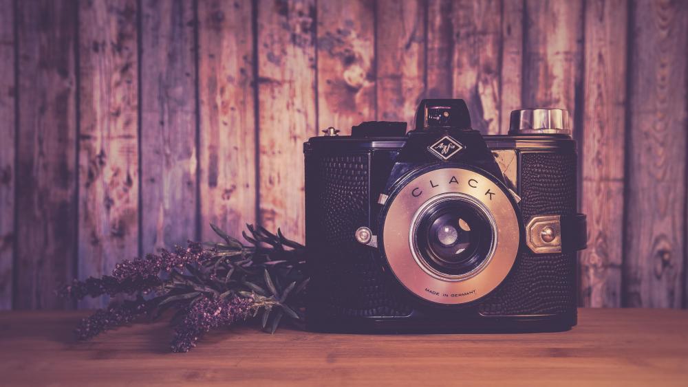 Antique camera wallpaper