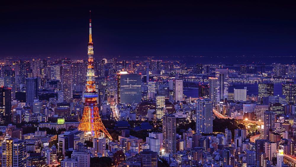 Tokyo Tower at night wallpaper