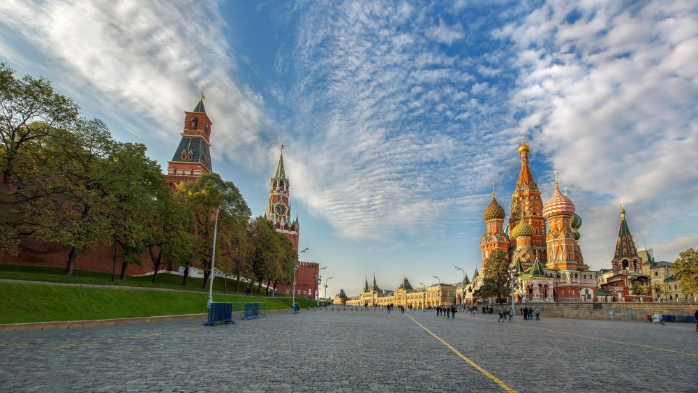 St. Basil's Cathedral at the Red Squre (Moscow) wallpaper