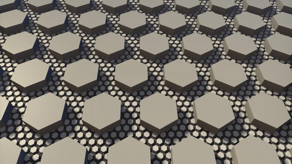Hexahedron pattern wallpaper