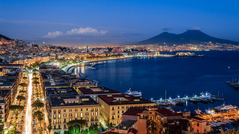 Gulf of Naples and Mount Vesuvius wallpaper