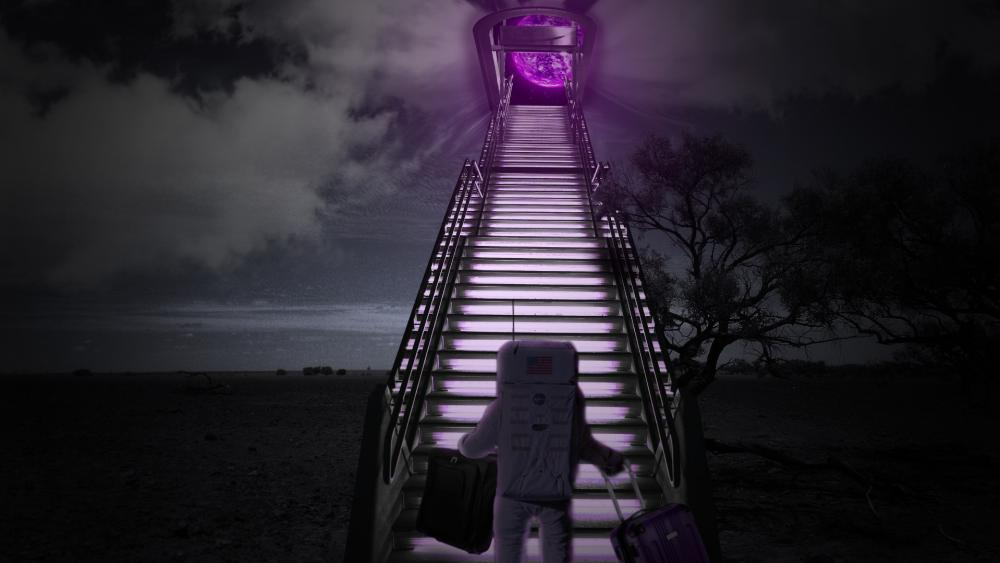 Stairs to a new world wallpaper