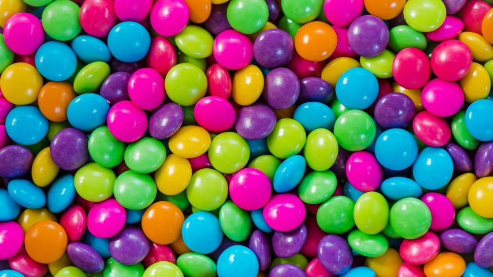 Colorful chocolate candy wallpaper