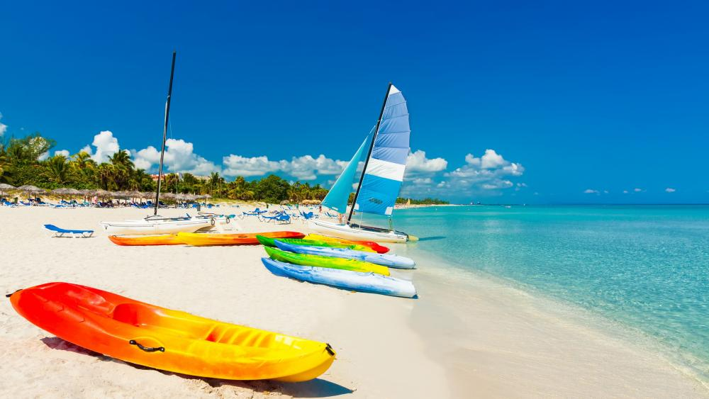 Holiday water sports in Cuba wallpaper