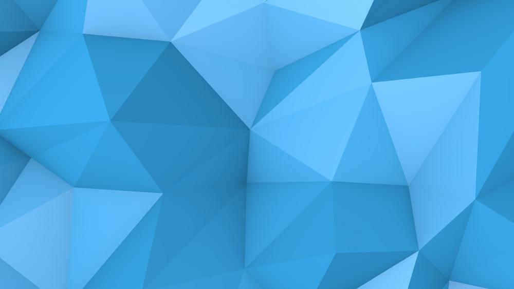 Blue Poligon wallpaper