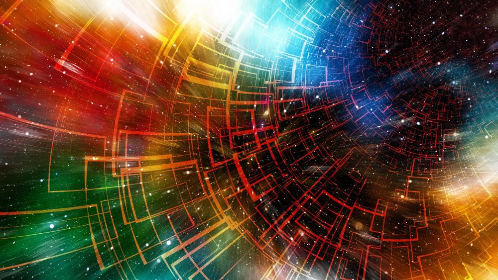Colorful universe abstract artwork wallpaper