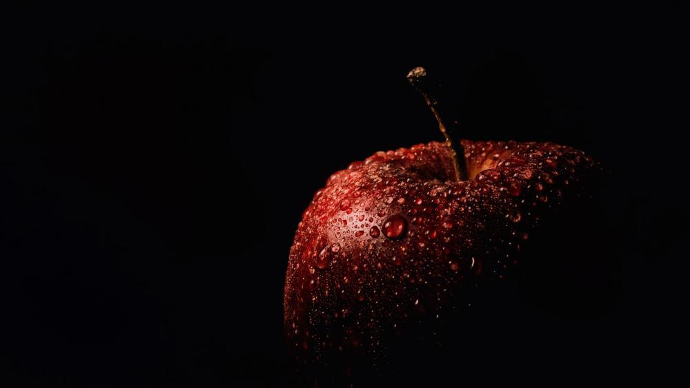 Apple in the dark wallpaper