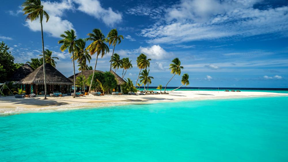 Vacation on Maldives wallpaper