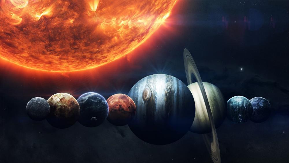 Planetary system wallpaper
