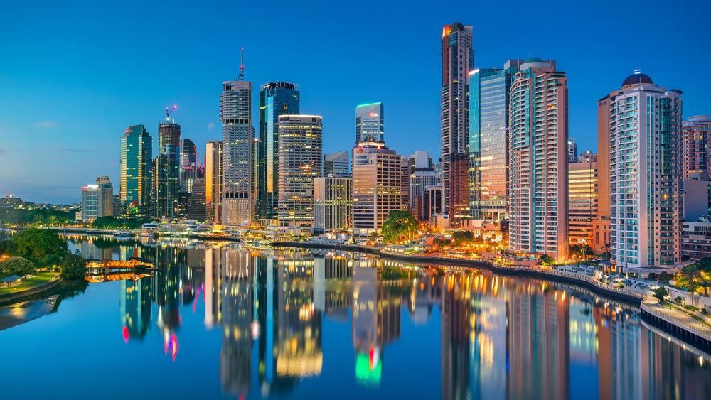 Brisbane skyline wallpaper
