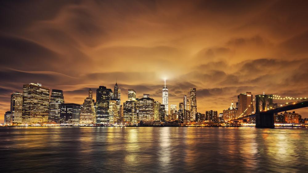 Lights of Manhattan wallpaper