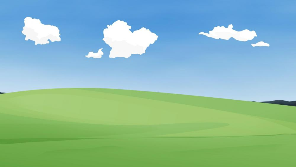 Simple landscape wallpaper