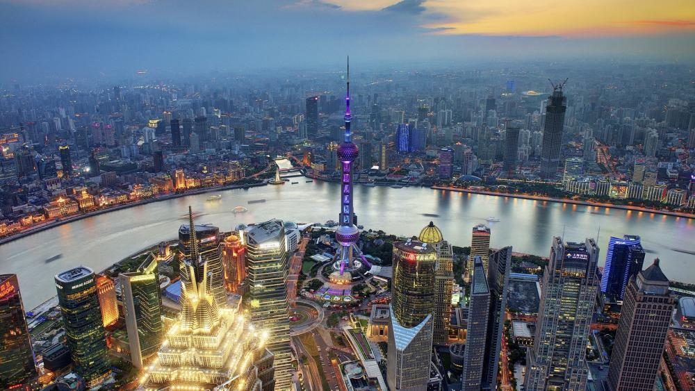 Huangpu River, Shanghai wallpaper