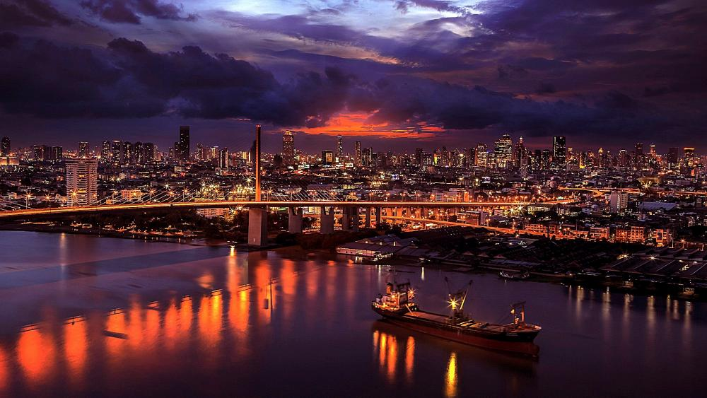 Bangkok at night wallpaper