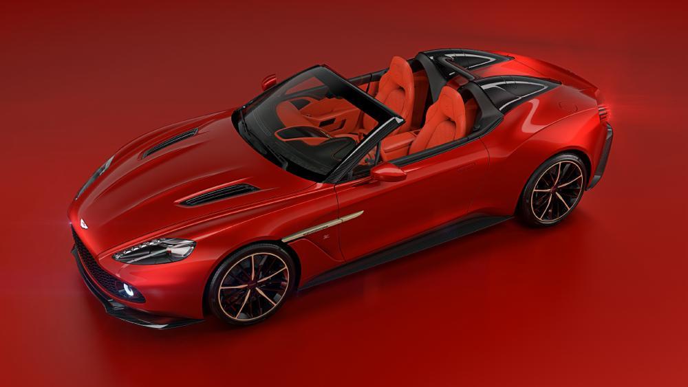 Red Aston Martin Vanquish wallpaper
