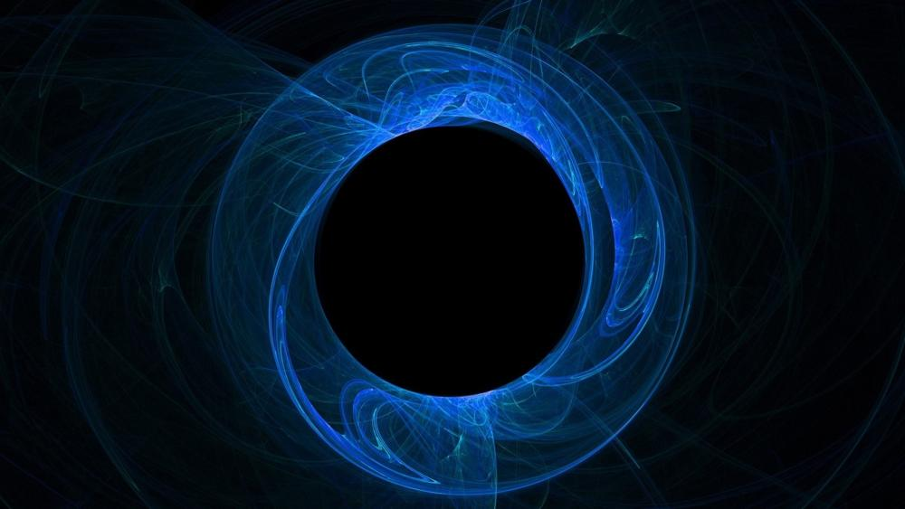 Blue circle wallpaper